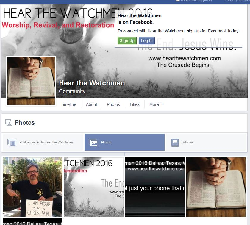 Hear The Watchmen Facebook page