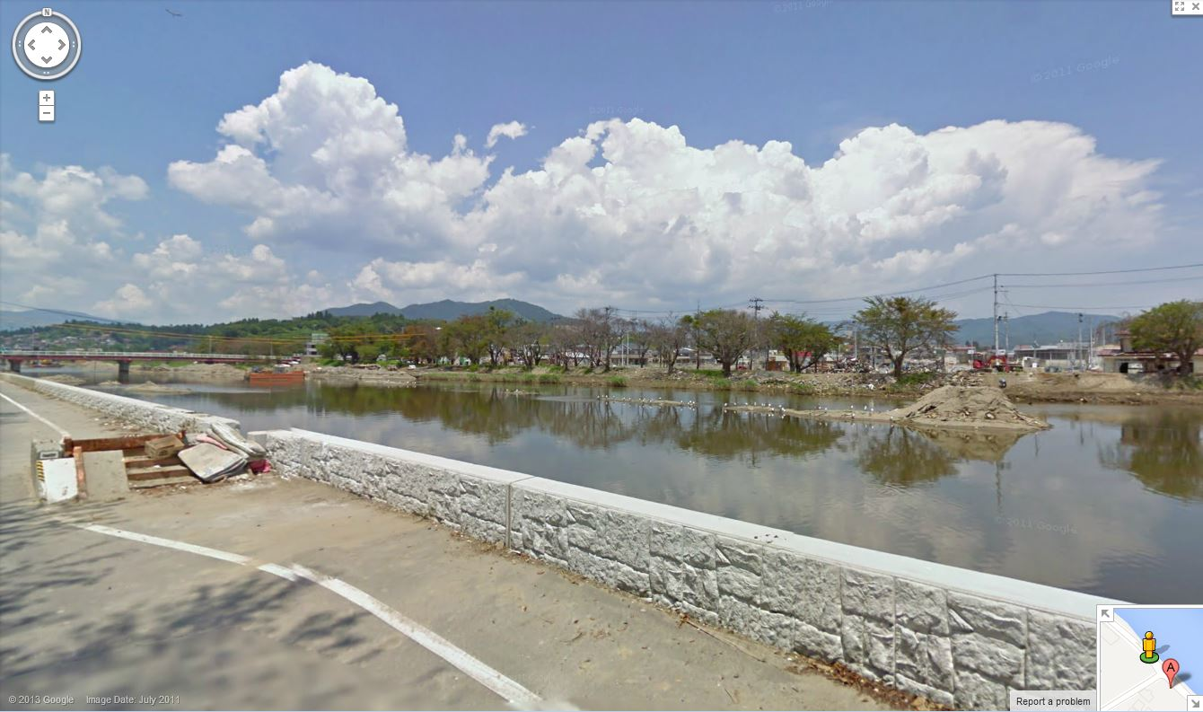 Street View of The Footbridge Three Months After The Tsunami